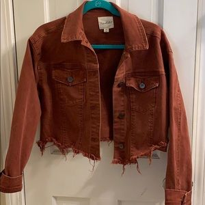 Medium Jean Jacket - Rust Colored
